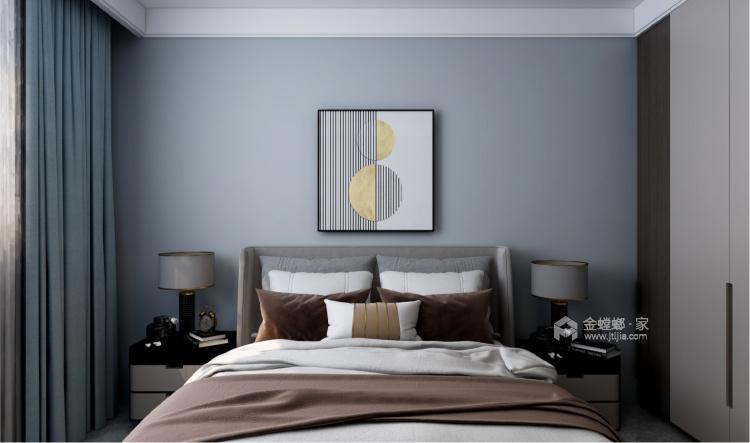 140平中房越秀城现代风格-家的遐思-卧室效果图及设计说明