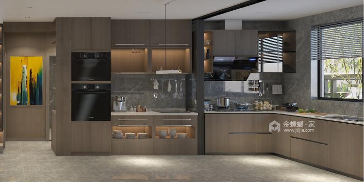 140平中房越秀城现代风格-家的遐思-厨房