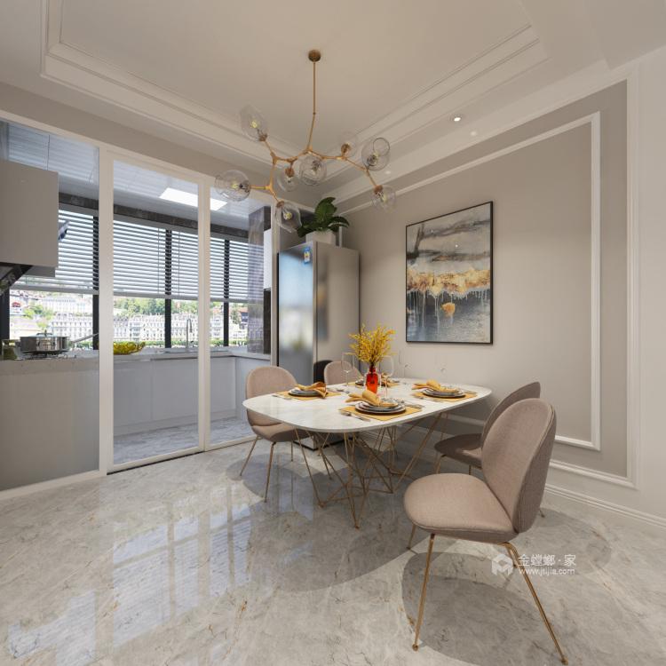 120平华恩城简美风格-精致并无繁华-餐厅效果图及设计说明