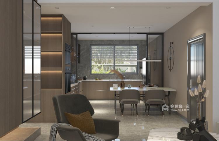 140平中房越秀城现代风格-家的遐思-餐厅效果图及设计说明