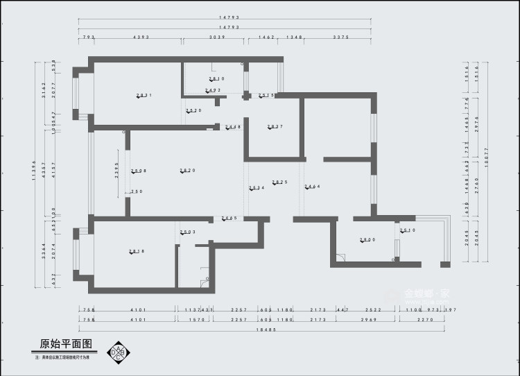 190平清怡花城现代风格-淡写岁月,静守岁月-业主需求&原始结构图