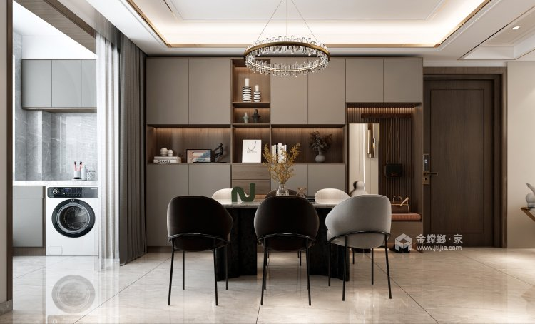 130平建业·公园里现代风格-餐厅效果图及设计说明