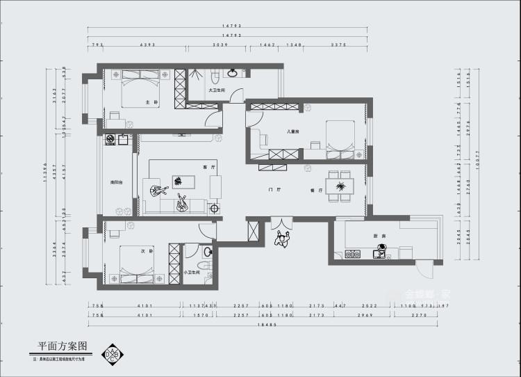 190平清怡花城现代风格-淡写岁月,静守岁月-平面设计图及设计说明