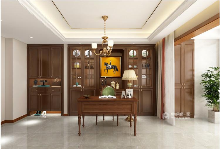 143平建业世和府美式风格-华丽深处,梦若浮生-书房