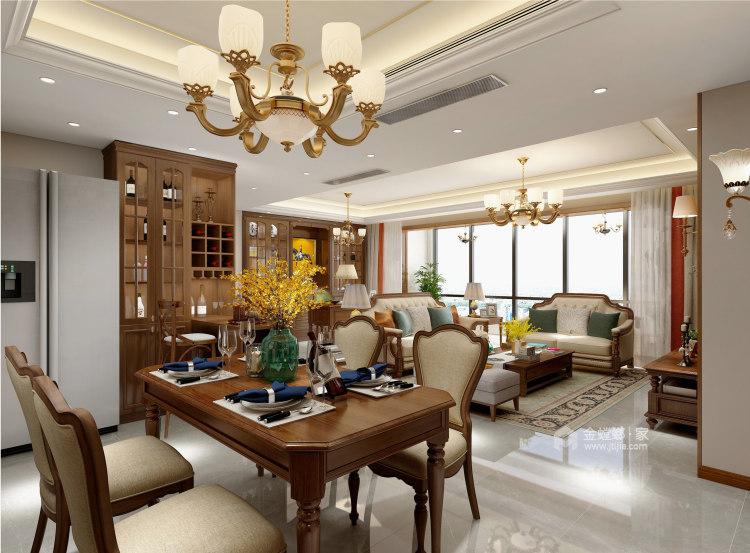 143平建业世和府美式风格-华丽深处,梦若浮生-餐厅效果图及设计说明