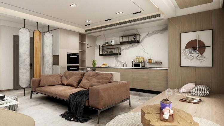 126平牡丹学府新中式风格-真实与诚恳-餐厅效果图及设计说明