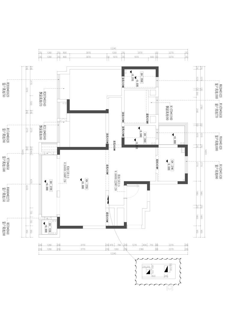 126平牡丹学府新中式风格-真实与诚恳-业主需求&原始结构图