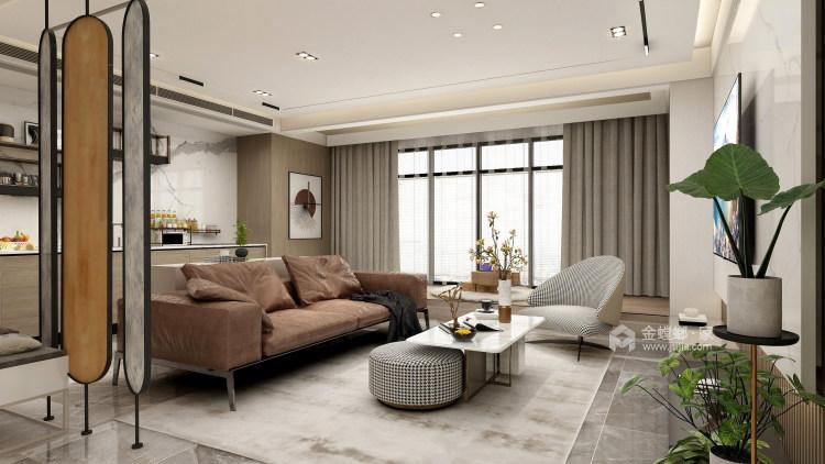 126平牡丹学府新中式风格-真实与诚恳-客厅效果图及设计说明