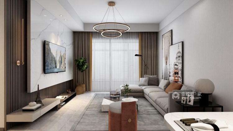 118平天宁吾悦现代风格-让家更亲切-客厅效果图及设计说明
