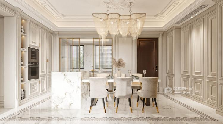 188平龙湖春江天玺法式风格-优雅是永不褪色的美-餐厅效果图及设计说明