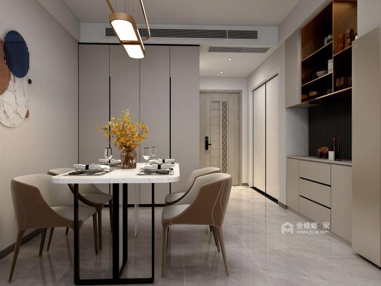 118平天宁吾悦现代风格-让家更亲切-餐厅效果图及设计说明