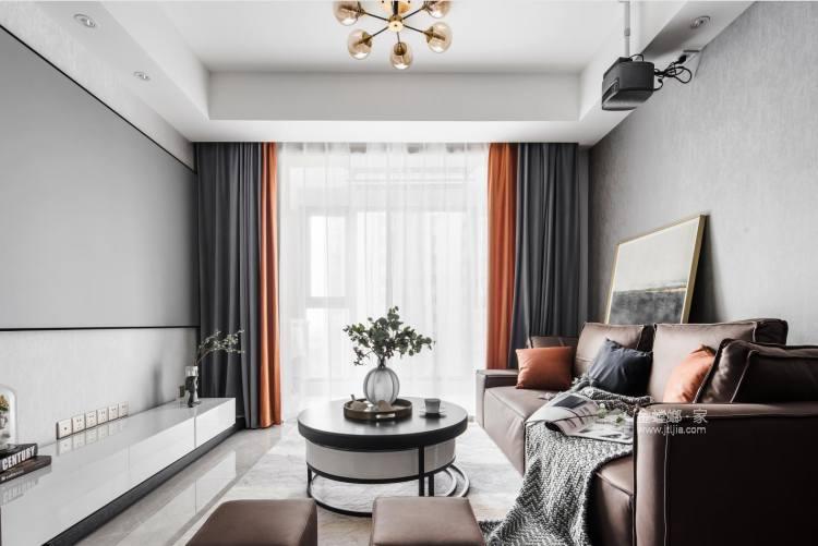 88平雅居荣华里现代风格-我贪恋的人间烟火 不偏不倚全部都是你-客厅效果图及设计说明