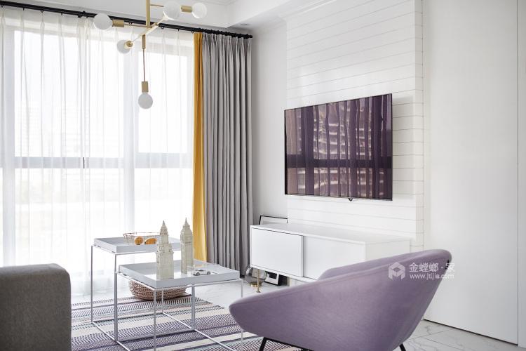 109平金星园现代风格-品质单身,质感享受-客厅效果图及设计说明