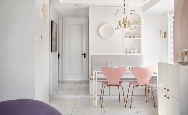109平金星园现代风格-品质单身,质感享受-餐厅效果图及设计说明