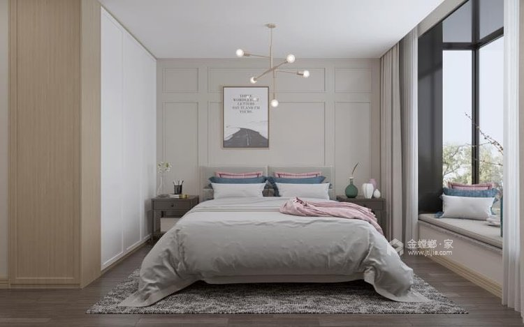 136平翠园锦绣北欧风格-卧室效果图及设计说明