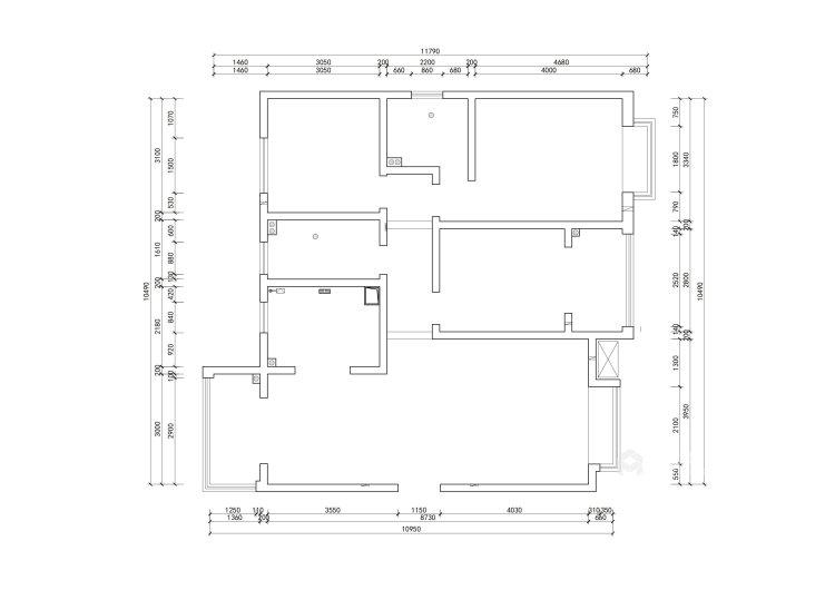 136平翠园锦绣北欧风格-业主需求&原始结构图