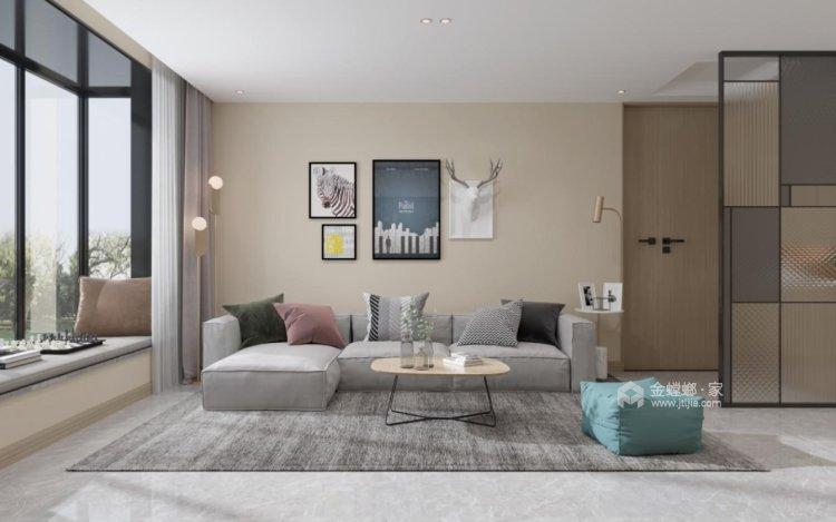 136平翠园锦绣北欧风格-客厅效果图及设计说明