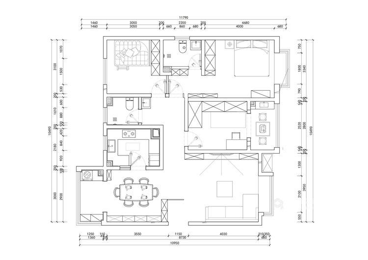 136平翠园锦绣北欧风格-平面设计图及设计说明