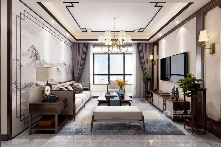 126平翠园锦绣中式风格-客厅效果图及设计说明