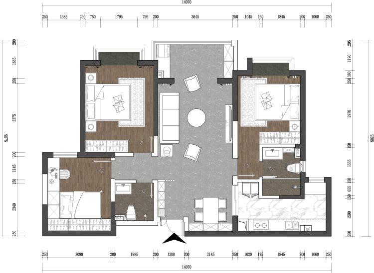 126平翠园锦绣中式风格-平面设计图及设计说明