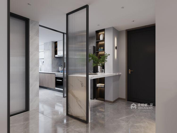 132平高教公寓现代风格-永恒温度-餐厅效果图及设计说明