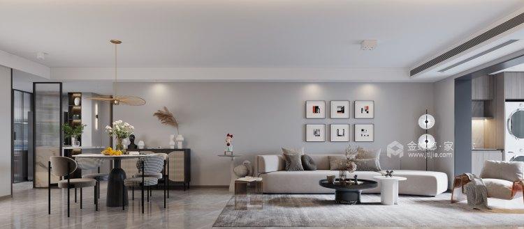 132平高教公寓现代风格-永恒温度-客厅效果图及设计说明