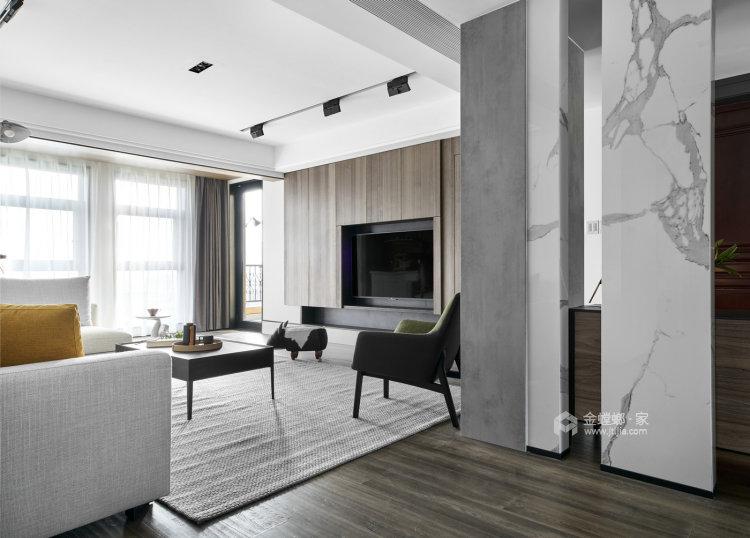 188平百合苑现代风格-客厅效果图及设计说明