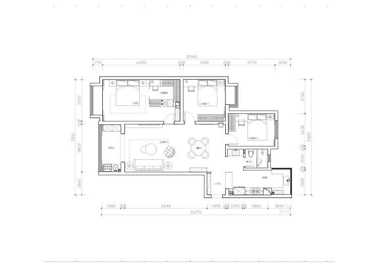 132平高教公寓现代风格-永恒温度-平面设计图及设计说明