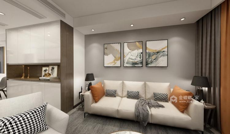 127平红星天铂现代风格-客厅效果图及设计说明