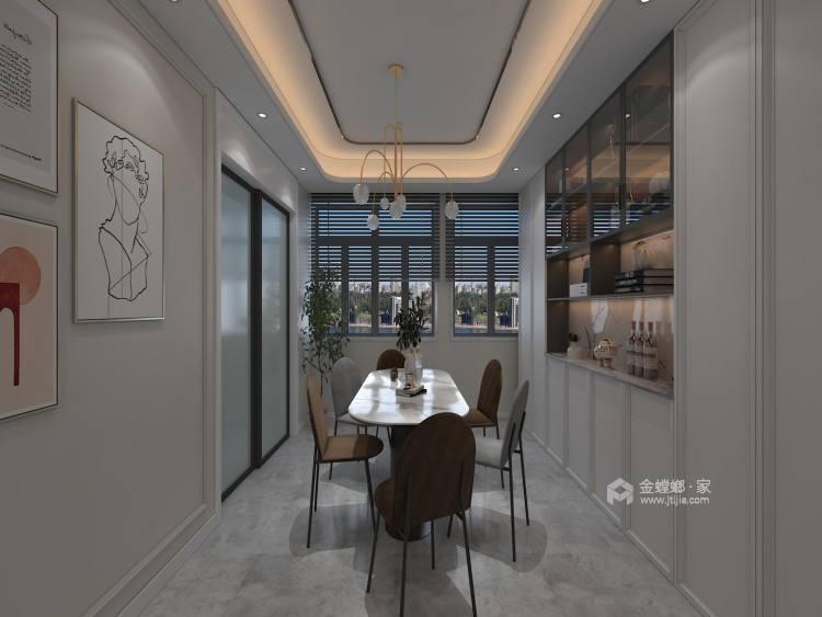 145平金大地时代公馆现代风格-餐厅效果图及设计说明