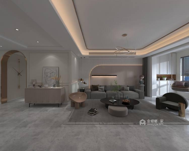 145平金大地时代公馆现代风格-客厅效果图及设计说明