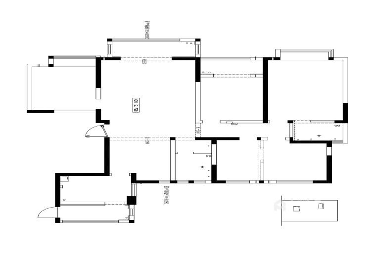 180平阳光和苑现代风格-业主需求&原始结构图