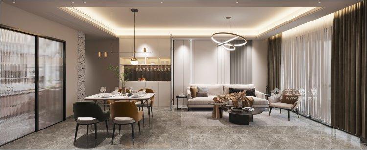 108平佳境康城现代风格-餐厅效果图及设计说明