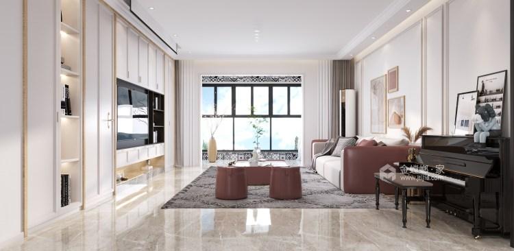 180平阳光和苑现代风格-客厅效果图及设计说明