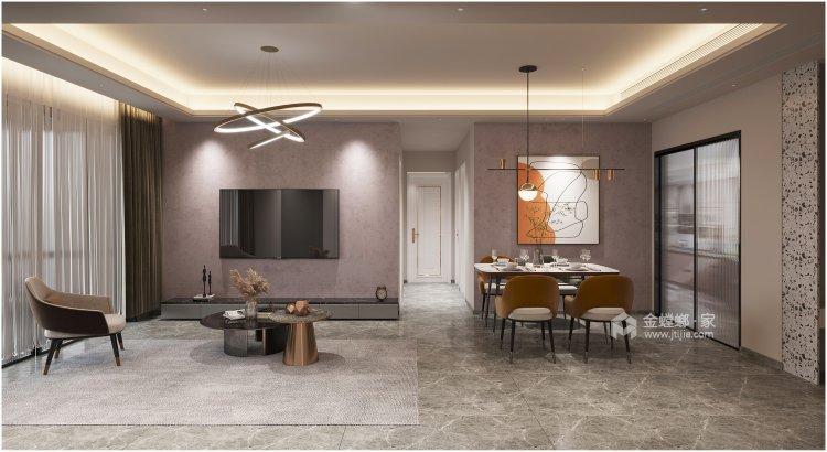 108平佳境康城现代风格-客厅效果图及设计说明