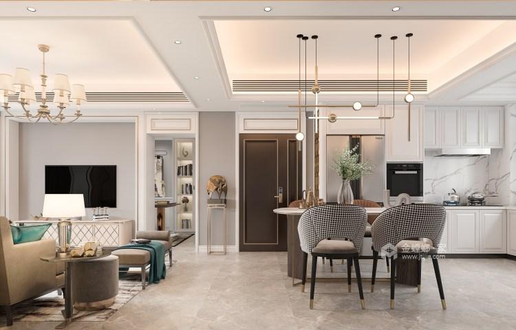 135平大发融悦东方法式风格-餐厅效果图及设计说明