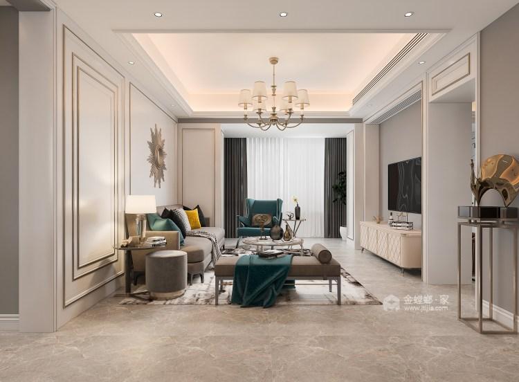 135平大发融悦东方法式风格-客厅效果图及设计说明