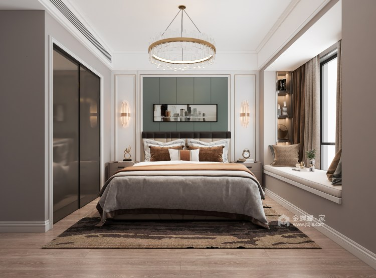 135平大发融悦东方法式风格-卧室效果图及设计说明