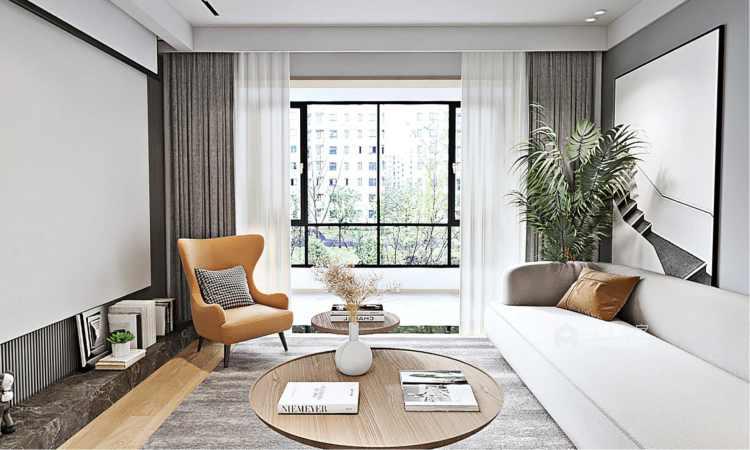130平南山楠现代风格-客厅效果图及设计说明