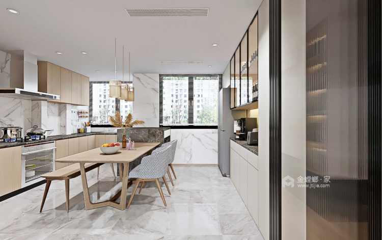 130平南山楠现代风格-餐厅效果图及设计说明