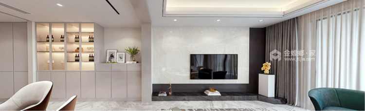 151平南山楠现代风格-邂逅一眼就沦陷的雅致生活-客厅效果图及设计说明