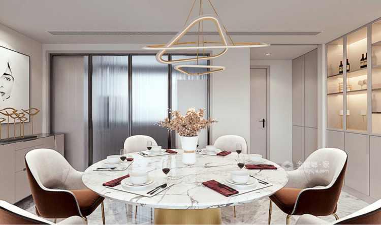 151平南山楠现代风格-邂逅一眼就沦陷的雅致生活-餐厅效果图及设计说明
