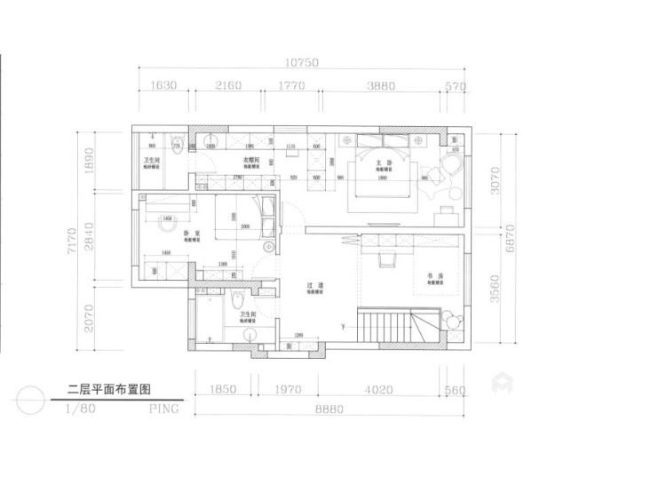 151平南山楠现代风格-邂逅一眼就沦陷的雅致生活-平面设计图及设计说明