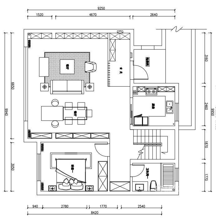 190平金茂府现代风格-生活原有的样子-业主需求&原始结构图