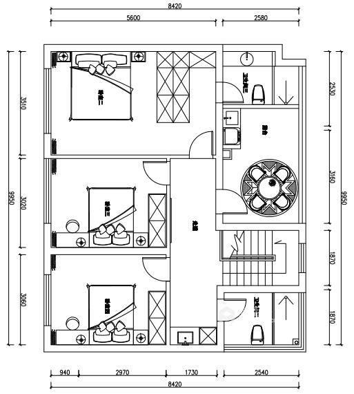 190平金茂府现代风格-生活原有的样子-平面设计图及设计说明