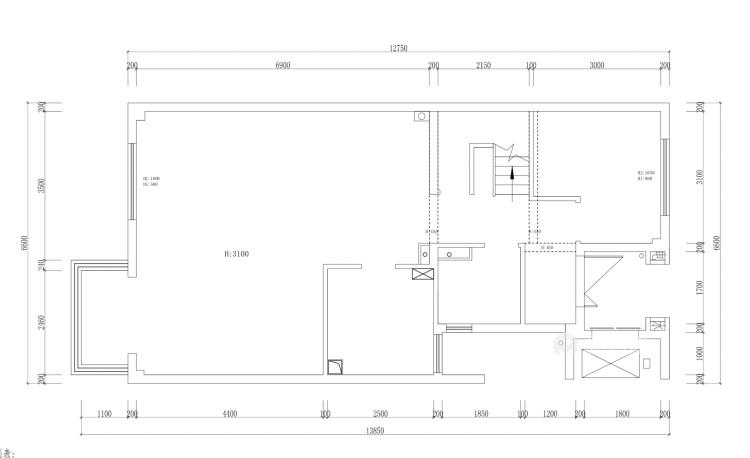 160平愉景湾现代风格-业主需求&原始结构图