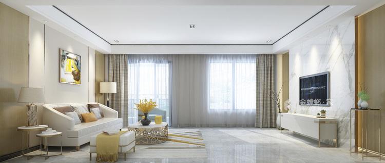 160平愉景湾现代风格-客厅效果图及设计说明