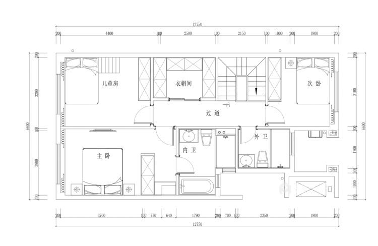 160平愉景湾现代风格-平面设计图及设计说明