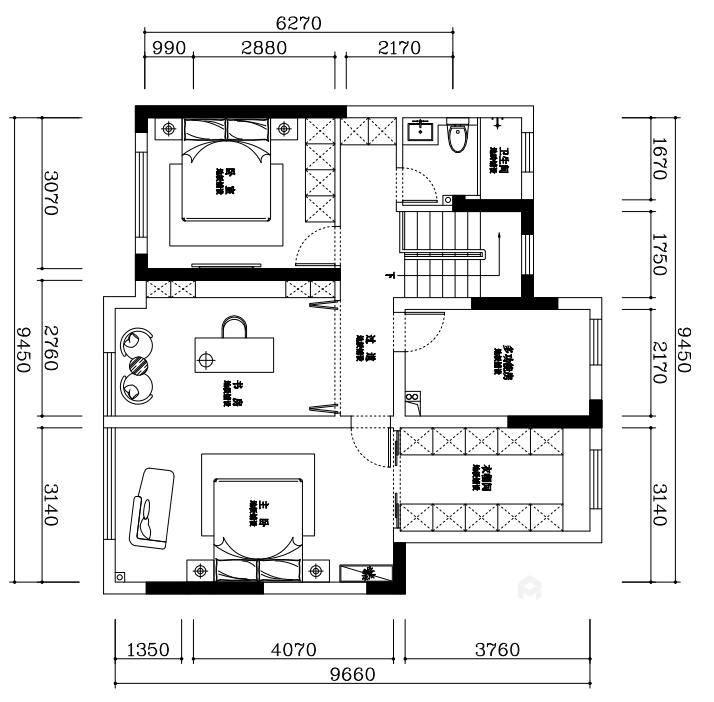 145平金茂府现代风格-现代大宅 一见倾心-平面设计图及设计说明