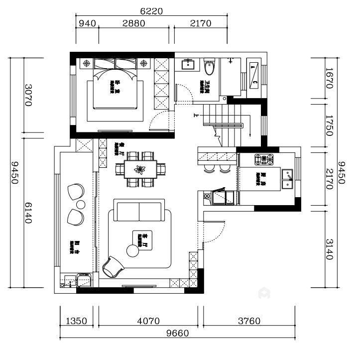 145平金茂府现代风格-现代大宅 一见倾心-业主需求&原始结构图